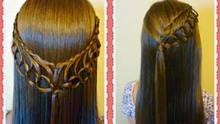 getlinkyoutube.com-Feather Chain Braid Hairstyles, Hair4myprincess