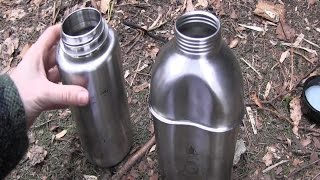 getlinkyoutube.com-Nalgene Bottle vs Military Canteen (Stainless Steel)