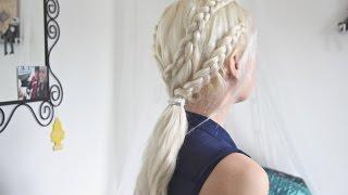 getlinkyoutube.com-Game of Thrones Hair ∆ Daenerys Inspired Braided Ponytail