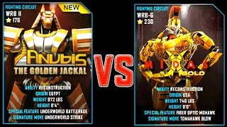 getlinkyoutube.com-Real Steel WRB ANUBIS VS MIDAS GOLD NEW Robot updating (Живая Сталь)