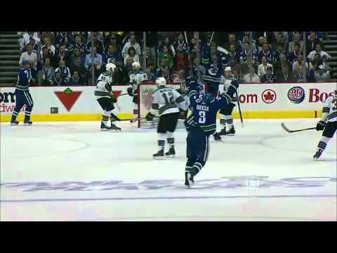 Kevin Bieksa 2OT game-winner, series clincher (CBC) 5/24/11