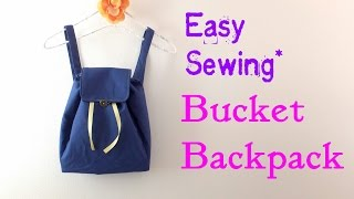 getlinkyoutube.com-**DIY**How to make Buket Backpack.** Easy Tutorial.**