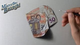 getlinkyoutube.com-Freaking realistic drawing of a fifty euro note