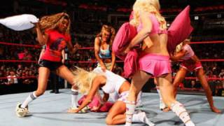 getlinkyoutube.com-Raw: Diva Pajama Pillow Fight Match
