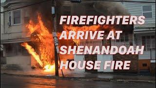 getlinkyoutube.com-PRE-ARRIVAL: 2nd Alarm House Fire - Shenandoah, PA - 01/18/2017