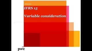IFRS 15 - Accounting for variable consideration (May 2014)