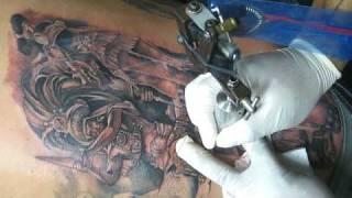 getlinkyoutube.com-jose lopez lowrider tattoo aztec piece