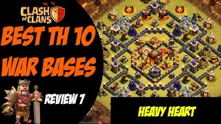 "getlinkyoutube.com-Clash of Clans: Best TH 10 War Base Design - ""Heavy Heart"" #7"