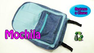 getlinkyoutube.com-162. Manualidades: Como hacer una mochila (Reciclaje) Ecobrisa.