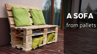getlinkyoutube.com-How To Make A Sofa From Pallets