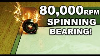 getlinkyoutube.com-High Speed Bearing Spinning (80,000+ Rpm) !
