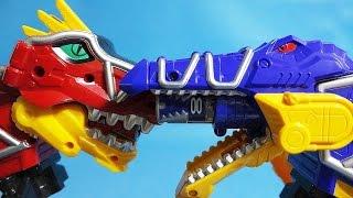 getlinkyoutube.com-파워레인저 다이노포스 토바스피노 vs 가브티라 또봇 Y 미니 장난감 Power Rangers Dino Charge Tobot Y toys
