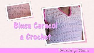 getlinkyoutube.com-Blusa caracol tejida a crochet (ganchillo) para verano - Parte 2
