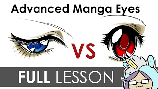 getlinkyoutube.com-How To Draw Manga Eyes : Serious VS Innocent