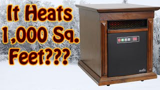 getlinkyoutube.com-Duraflame Infrared Quartz Space Heater Review - Winterize Your Home