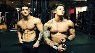 getlinkyoutube.com-Chest/Biceps Workout by Harrison Twins - Challenge yourself - TEAM ShapeYOU