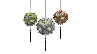 getlinkyoutube.com-วิธีพับลูกบอลกระดาษแบบเอสเตลล่าฟลอร์สำหรับทำคุซุดามะ (Estrella Flor Kusudama)