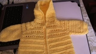 getlinkyoutube.com-Easy to Crochet Baby Hoodie Sweater -  Video 1 - Yolanda Soto Lopez