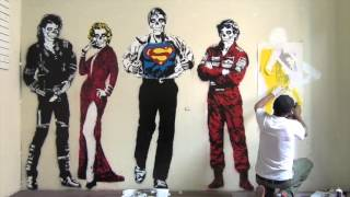 getlinkyoutube.com-Stencil Graffiti Art