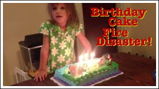 Birthday Cake Catches 3 yr Old Girl's Hair on FIRE!!