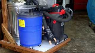 getlinkyoutube.com-DIY Dust Collection Cart for small woodshop