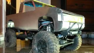 getlinkyoutube.com-Homemade RC Body-Nissan Hardbody Crawler Pickup Tr