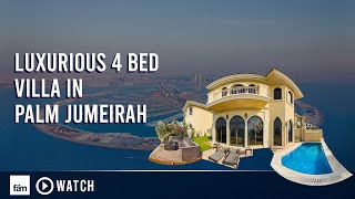 getlinkyoutube.com-Luxurious 4 Bedrooms Villa in Palm Jumeirah with Swimming Pool & Beach access