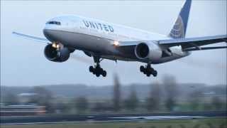 getlinkyoutube.com-GO-AROUND! United Boeing 777-200ER at Brussels Airport