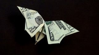 getlinkyoutube.com-Dollar Origami Butterfly Tutorial - How to make a Dollar Butterfly