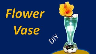How to make a flower vase from a plastic bottle with underwater light
