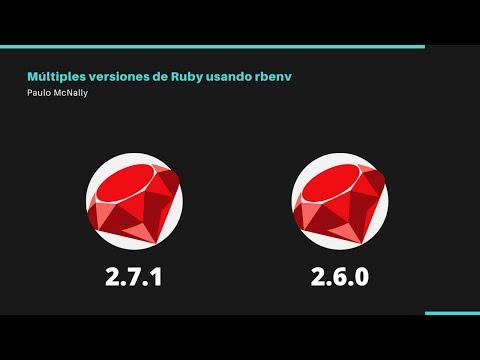 Múltiples versiones de Ruby usando rbenv
