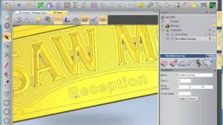getlinkyoutube.com-ArtCAM 2010 Free Trial - 2D & 2.5D CNC Sign Machining
