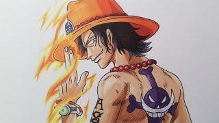 getlinkyoutube.com-Drawing Portgas D. Ace - One Piece