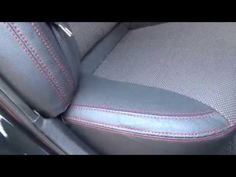 Качественные авточехлы на Hyndai Sonata YF, Premium Style, красная нить