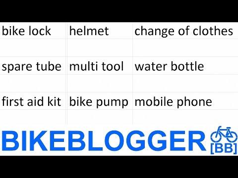 Bike Commuter Items List Night BikeBlogger