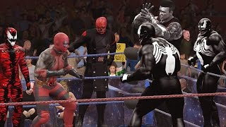 getlinkyoutube.com-DEADPOOL vs VENOM, COLOSSUS, CARNAGE, RED HULK & RED SKULL - Epic Battle Gauntlet
