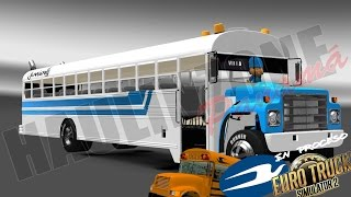 getlinkyoutube.com-International Blue Bird || Avance Accesorios || Euro Truck Simulator 2 || MODS