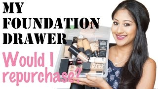 getlinkyoutube.com-My Foundation Drawer/Would I Repurchase? | Makeup By Megha