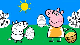 getlinkyoutube.com-Peppa Pig Coloring Pages - Peppa Coloring Book