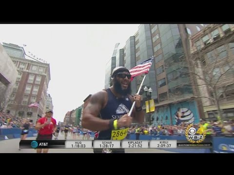 Marine Finishes Boston Marathon For Semper Fi Fund