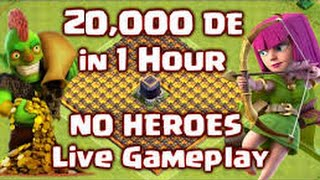 getlinkyoutube.com-How to Make 20,000 Dark Elixir in 1 HOUR Live without Heroes! Clash of Clans - Farming Strategy