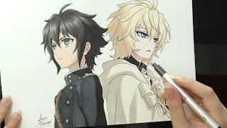getlinkyoutube.com-Speed Drawing - Yuu and Mika (Owari no Seraph)