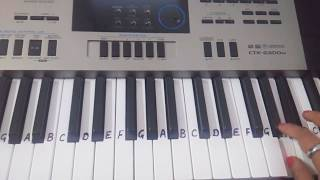 Dil ne ye kaha hai Dil se on Keyboard Piano Casio -slowly played - Easy Tutorial for beginners