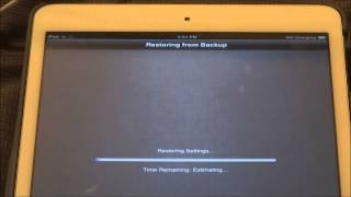 getlinkyoutube.com-How to restore iPad Mini from iCloud Backup