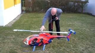 getlinkyoutube.com-T Rex 700e mit Rumpf/Fuselage Hughes 500E Test 1