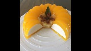 getlinkyoutube.com-Flotatina gelatina de queso crema con mango