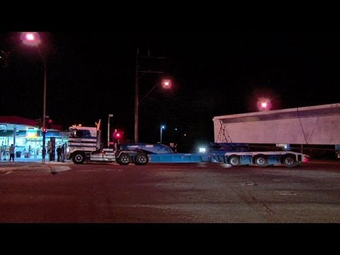Australian Trucks : Hi Haul Kenworth K104s with Bridge Beams.  Part 1  Fri 17/05/13