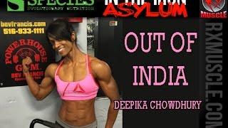 getlinkyoutube.com-Deepika Chowdhury Trains Chest & Shoulders at Powerhouse Gym 2015
