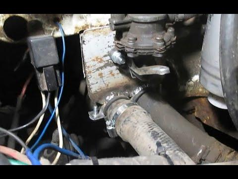 Фольксваген Т3 - кріплення патрубків системи охолодження + додатковий підкачуючий насос