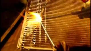 getlinkyoutube.com-Welding aluminum radiator with brazing alloy